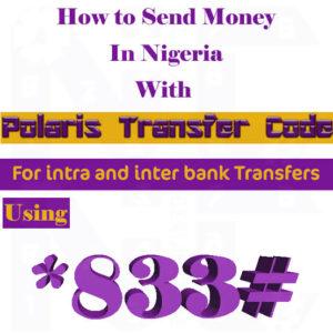 polaris bank transfer code