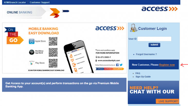 access Bank Internet Banking