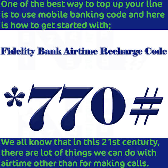 Fidelity Bank recharge code