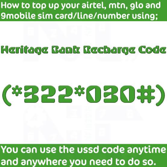 Heritage Bank Recharge Code