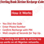 Sterling Bank Recharge Code