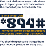 first bank recharging code