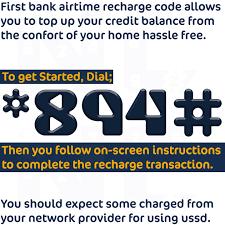 first bank recharging code