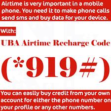 uba recharge code