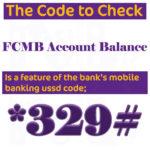 FCMB Account Balance Code