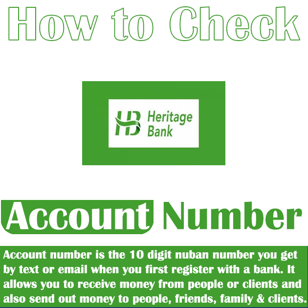 How To Check Heritage Bank Account Number On Phone