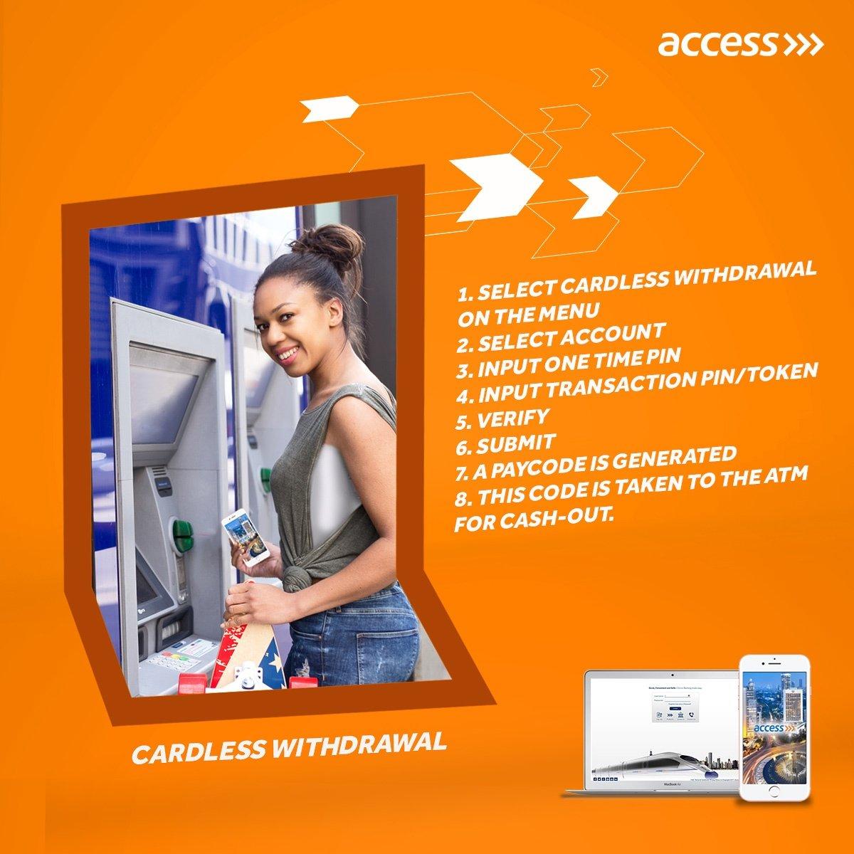 access bank cardless withdrawal