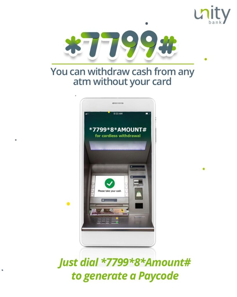 unity bank cardless withdrawal