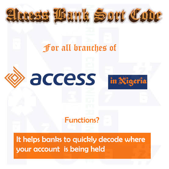 Access Bank sort code