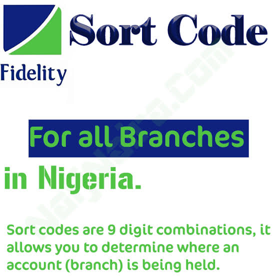 Fidelity Bank Sort Code