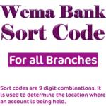 wema bank sort code