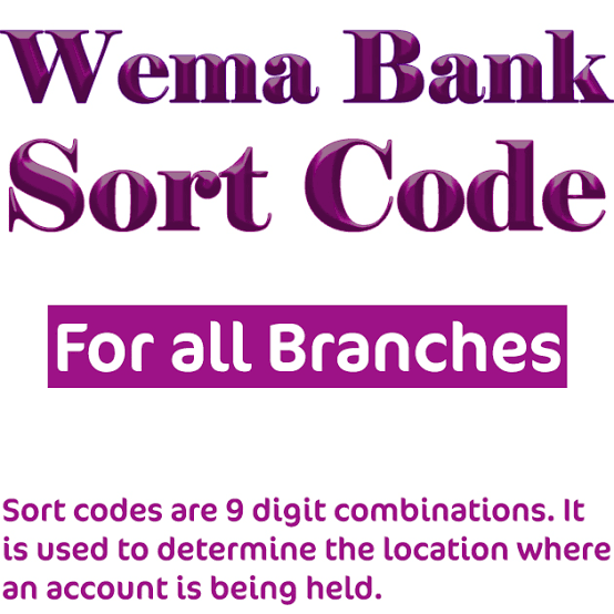 wema bank sort code