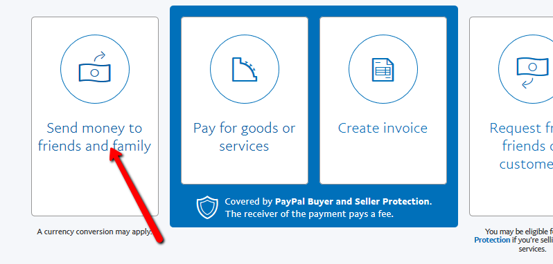 PayPal Friends and Family Limit